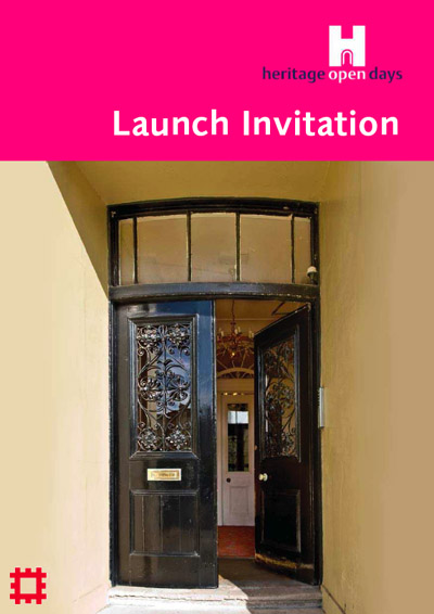 Graphic showing invitation to launch event for HODs 2009