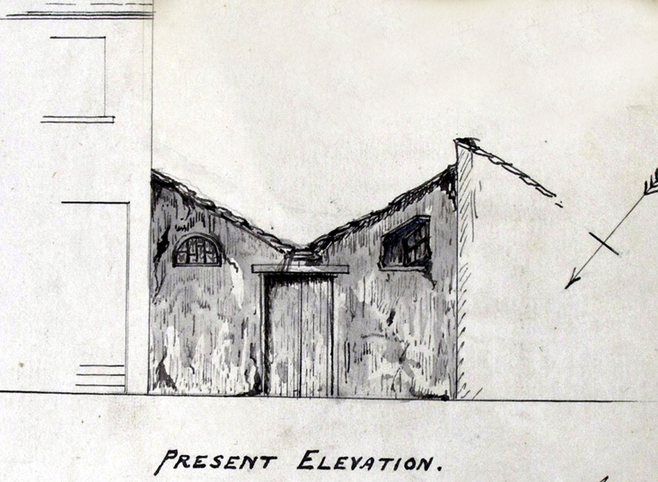 Sketch of a workshop in Foundry Street, June 1868