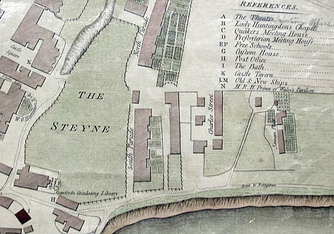 Map of Brightelmstone, 1788. Image courtesy of the Royal Pavilion, Libraries and Museums, Brighton and Hove