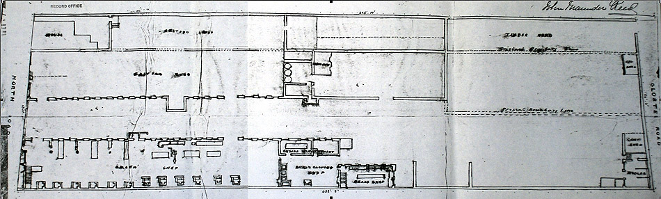 Plan of the Regent Iron and Brass Foundry, 1870