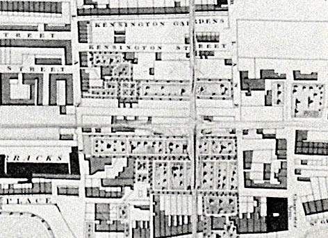Detail of 1826 J Pigot-Smith map. Image courtesy of the Royal Pavilion, Libraries and Museums, Brighton and Hove