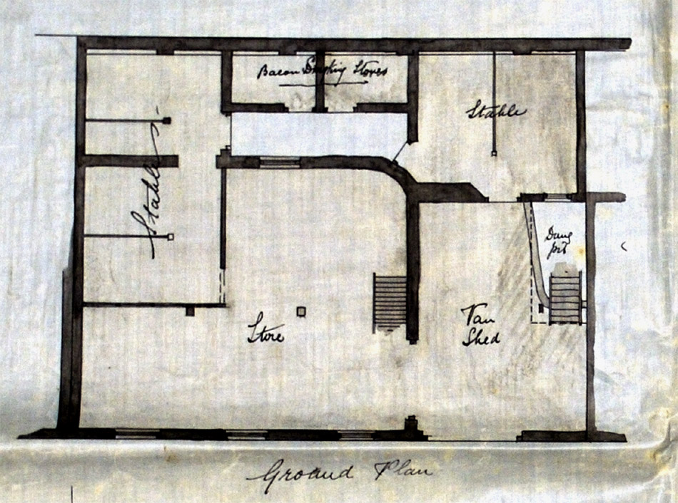 Plan of Walter & Lynn's stables prior to redevelopment.