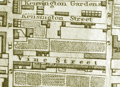"Detail from the 1845 ""30 chains"" map of Brighton and Hove. Image courtesy of the Royal Pavilion, Libraries and Museums, Brighton and Hove"