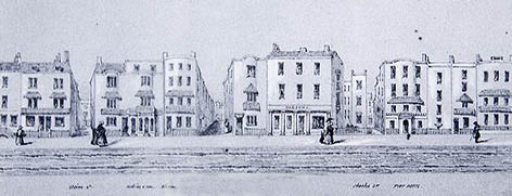 Drawing by William Alfred Delamotte. Image courtesy Regency Society