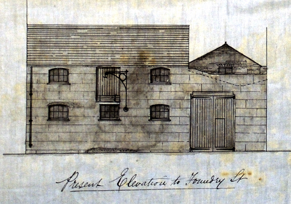 Elevation of Walter & Lynn's stables prior to redevelopment