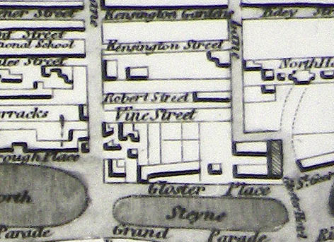 Detail from the 1847 map of Brighton and Hove. Image courtesy of the Royal Pavilion, Libraries and Museums, Brighton and Hove