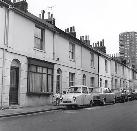 Brighton Borough Surveyor's photograph of 2 Tidy Street, 1974. Image courtesy of the Royal Pavilion, Libraries and Museums, Brighton and Hove
