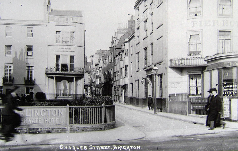 View of Charles Street on Marine Parade, c. 1920.