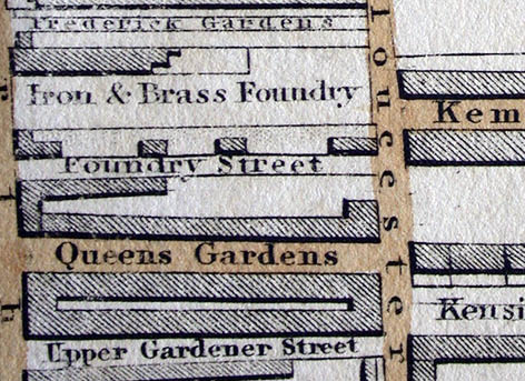 "Detail from the 1870 ""30 chains"" map of Brighton and Hove. Image courtesy of the Royal Pavilion, Libraries and Museums, Brighton and Hove"