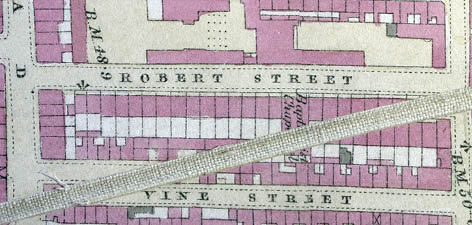 Detail from the 1875 OS map of Brighton and Hove. Image courtesy of the Royal Pavilion, Libraries and Museums, Brighton and Hove