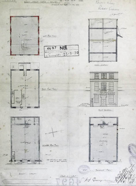 Architectural Drawing for the Reason Manufacturing Company's Robert Street works. Image courtesy of East Sussex Record Office