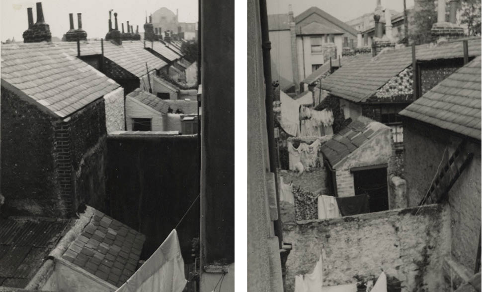 Back yards in Over Street, taken by the Brighton Borough Surveyor. Image courtesy of the Royal Pavilion, Libraries and Museums, Brighton and Hove