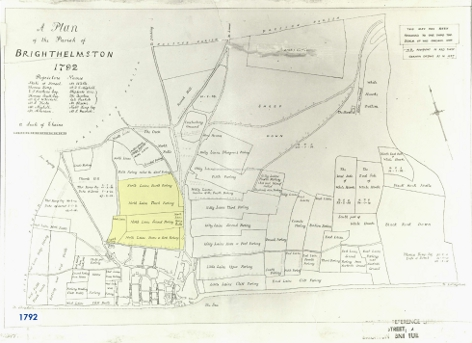 Late 18th Century Map Showing the then undeveloped North Laine