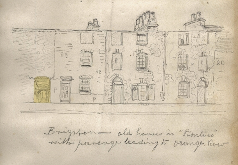 Pimlico Drawing showing passageway to Orange Row