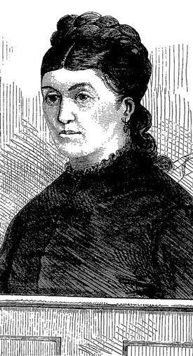 Sketch drawing of Christiana Edmunds